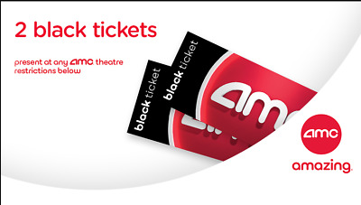 AMC Movie Tickets (x2) Large Drinks (x2) Large Popcorn (x1) - Bundle via Email