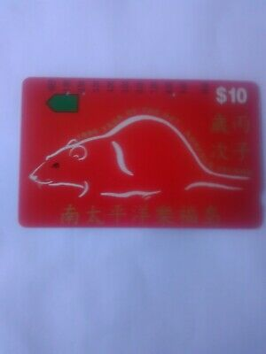 $10 3 Hole Phonecard 1996 Norfolk Island Year Of The Rat Prefix 1135