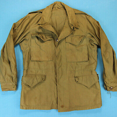 40s WWII US MILITARY Vintage Field Jacket ~ Men 38 ~ Army Green M-1943 M43