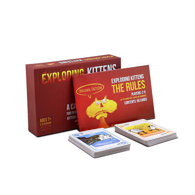 EXPLODING KITTENS Original Edition Card Party Family Game Goats NEW GIFT NEW UK