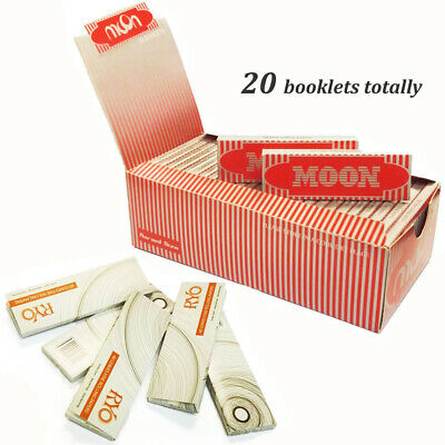 """Moon Red 1.0"""" 20 booklets 70*36mm Cigarette Rolling Papers Wood Papers & SCIRCLE"""