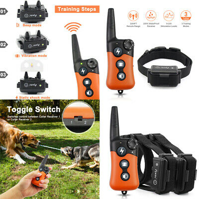 Pet Remote Control Training Shock E-Collars/Accessory Rechargeable for 1/2 Dogs