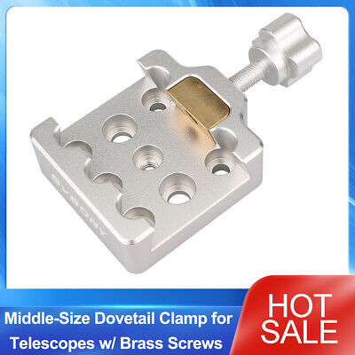 SVBONY Fully Metal Middle-Size Dovetail Clamp for Telescopes w/ Brass Screws NEW