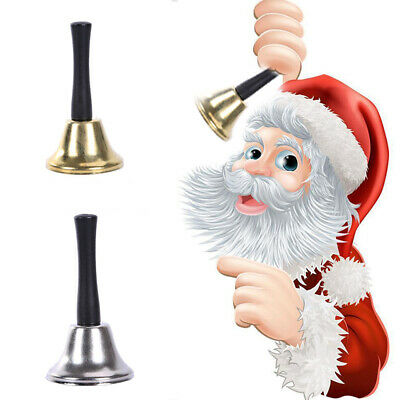 Gold&Silver Christmas Handbell Bells Xmas Restaurant Bell Jingle Ringtones AU