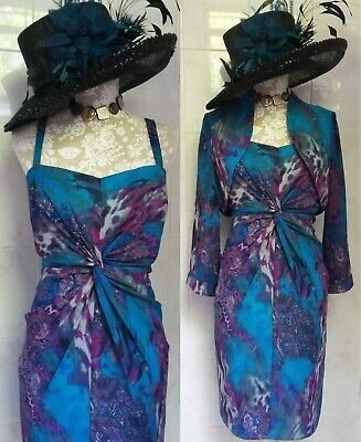 Gorgeous GINA BACCONI Mother of the Bride dress bolero outfit size 14