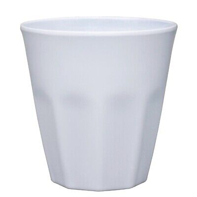 Kristallon Melamine Beaker White - 88(dia)x90(h)mm 290ml 10oz (Box 6)