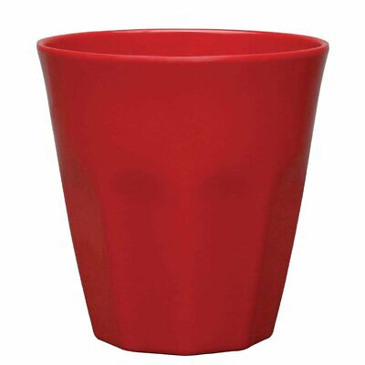Kristallon Melamine Beaker Red - 88(dia)x90(h)mm 290ml 10oz (Box 6)