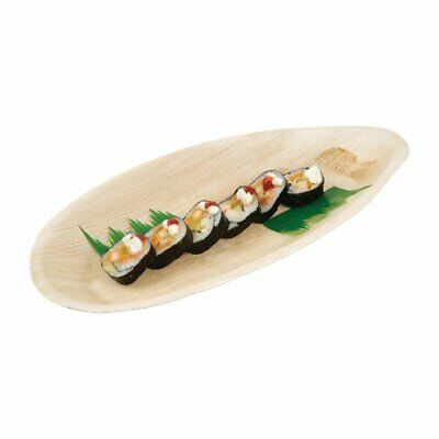 Fiesta Green Palm Leaf Plate Oval - 320x180mm (Pack 100)