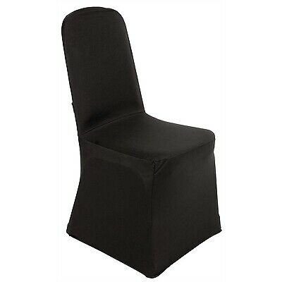 Bolero Banquet Chair Poly Jersey Covers (Black)