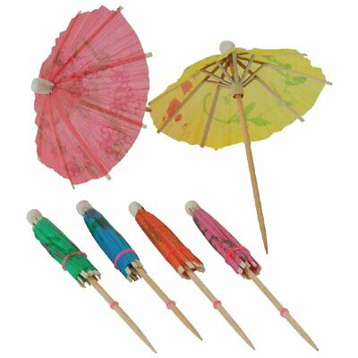 Fiesta Cocktails Parasols Mixed Colours (Pack 144)