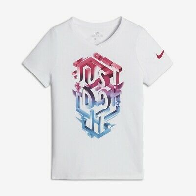 Girl's Tee Shirt Nike G NSW T-shirt JDI POP Mezzo 862682 100 white  S (128-137cm