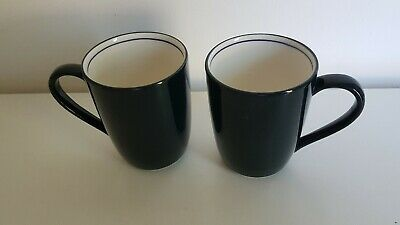 Denby Intro Mugs In Navy Blue - Set Of 2