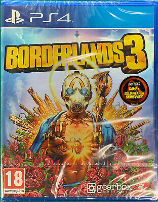 Borderlands 3 (PS4) Game inc Gold Weapon Bonus Skin Pack DLC | NEW  BLACK FRIDAY