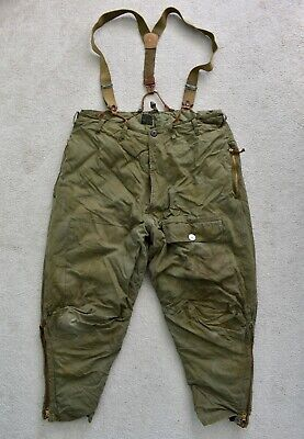 WW2 40s EDDIE BAUER US Army Type A-8 Goose Down Flight Pants Trousers W37 L26