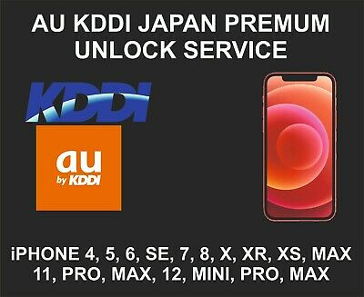 KDDI, AU Japan Premium Unlock Service, fits iPhone 6, 7, 8 X, XR, XS, 11 Pro Max
