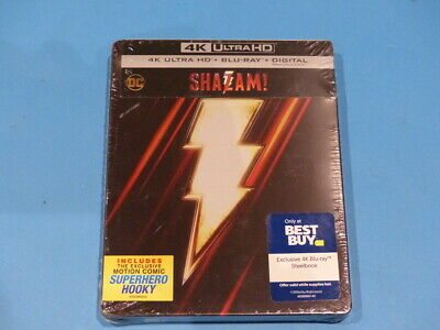Shazam - Steelbook - 4K Ultra Hd + Blu-Ray  New