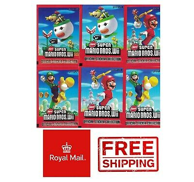 40 New Unopened Packs Super Mario Bros Stickers Enter Play 2011 Brothers WII