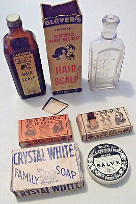 Vintage Lot of 6 Different Used, Empty, Unopened REMEDY MEDICINES & ADVERTISING