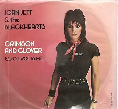 Joan Jett & The Blackhearts: Crimson & Clover, 7 in Record w/ Photo Sleeve