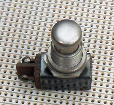 Push-Button Momentary Switch Make  Arrow 250V 3A 12mm Panel Mount Vintage