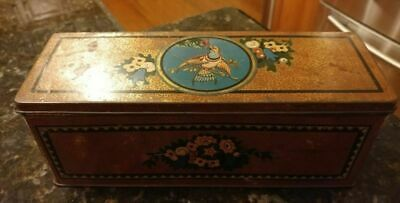 Art Nouveau Irridescent Cream Cracker Tin CWS Cream Crackers 23cm x8cm x 9cm
