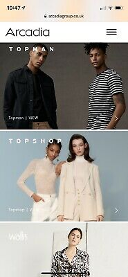 £209.25 TOPSHOP / TOPMAN / ARCADIA GIFT CARD  VOUCHER and 25% Off Code