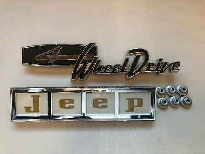 complete hood kit with GOLD Letters  !!Brand New!! Jeepster Jeep Commando