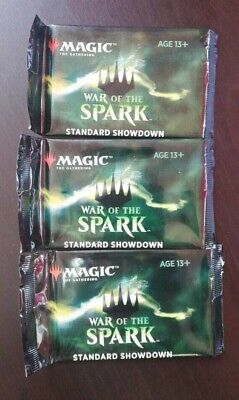 3x War of the Spark Standard Showdown booster packs sealed MTG