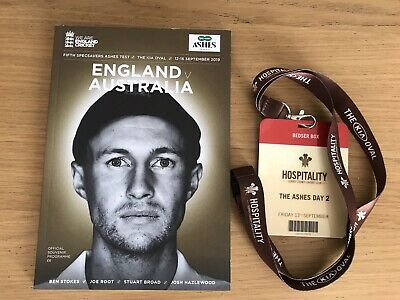Ashes Cricket 5Th Test England V Australia Programme. 12-16 Sept 2019. Oval