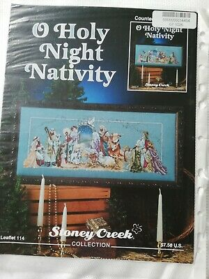 Oh holy night nativity .Esquema punto de cruz Original