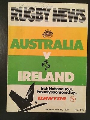 4071 - Australia v Ireland 1979 2nd Tst Rugby Programme 16th June wallabies IRFU
