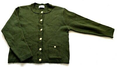 Womens Ladies Vintage Green Buttioned Cardigan Retro 12