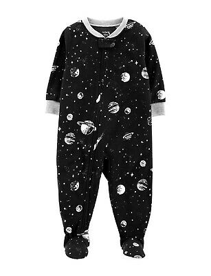 Carter/'s NWT 12 24 month Boys Firetruck Footed Pajama KNIT Lightweight