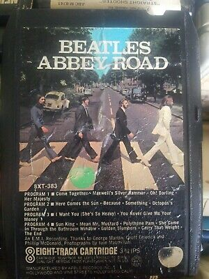 Beatles Abbey Road 8-Track Cartridge Tape 8XT 383 Free S/H