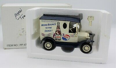 Golden Wheels Die Cast Pepsi Delivery Truck More Bounce Ounce Coin Bank Vintage