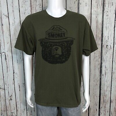 Mighty Fine Graphic T-shirt XL Smokey The Bear Only You Can Prevent Forest Fires