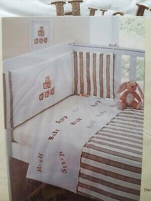 Luxury 3 Piece Cot Bedding Set Baby Bale Bumper, Quilt & Fitted Sheet-Boys/Girls