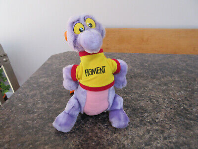 "11"" Disneyland WALT DISNEY WORLD EXCLUSIVE Figment Plush Stuffed Purple Dragon"