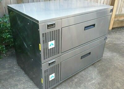 Adande VCS 2 Drawer Commercial Fridge Freezer Cafe Restaurant Ice Cream Gelato