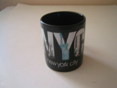 "New York, NYC Black Coffee Mug by Kings - 3 3/4"" Tall"
