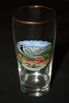 INTERLAKEN SWITZERLAND souvenir glass