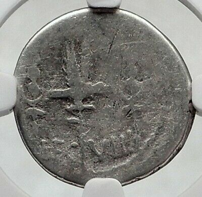 MARK ANTONY Cleopatra Love 32BC Ancient Silver Roman Coin LEGION VIII NGC i80515