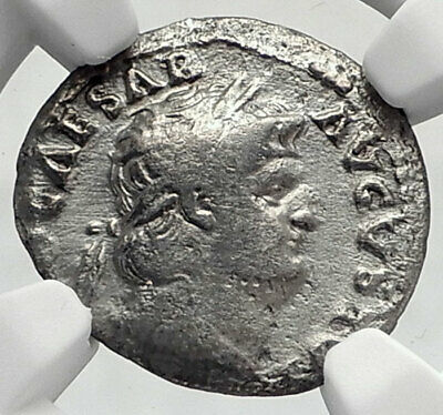 NERO Authentic Ancient 64AD Rome Genuine Silver Denarius Roman Coin NGC i80516
