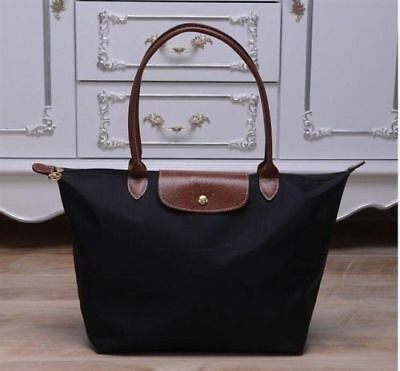 New Longchamp New Le Pliage Nylon Tote Handbag Black bag Large