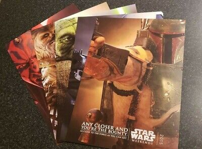 Disney Star Wars Weekends 2015 Set of 5 Annual Passholder Posters NEW