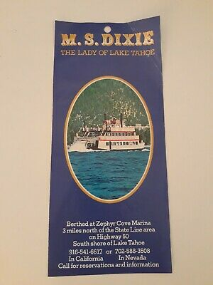 🌟 VTG M.S. Dixie the Lady of Lake Tahoe cruise show boat travel brochure