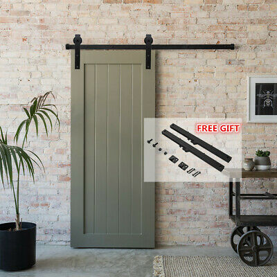 4-20FT Sliding Barn Single/Double Door Hardware Track Kit With Soft Close Gift