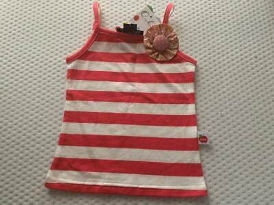 OOBI  ~  Girls SIZE S (2/3 YRS RED STRIPED TOP w/REMOVABLE FLOWER BROOCH NWT NWT