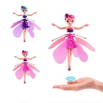 Flying Fairy Princess Doll Infrared Induction Control Toy Xmas Halloween Gift US