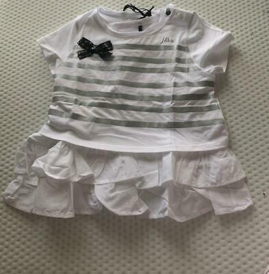 IKKS Girls 6 yrs CROPPED OVERLAY w/RUFFLED TOP UNDERNEATH 2 PCE SET - NWT
